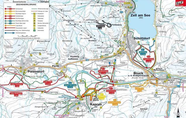 Großglockner Karte.Langlauf Fusch Am Großglockner Loipen Loipenplan Loipenkilometer