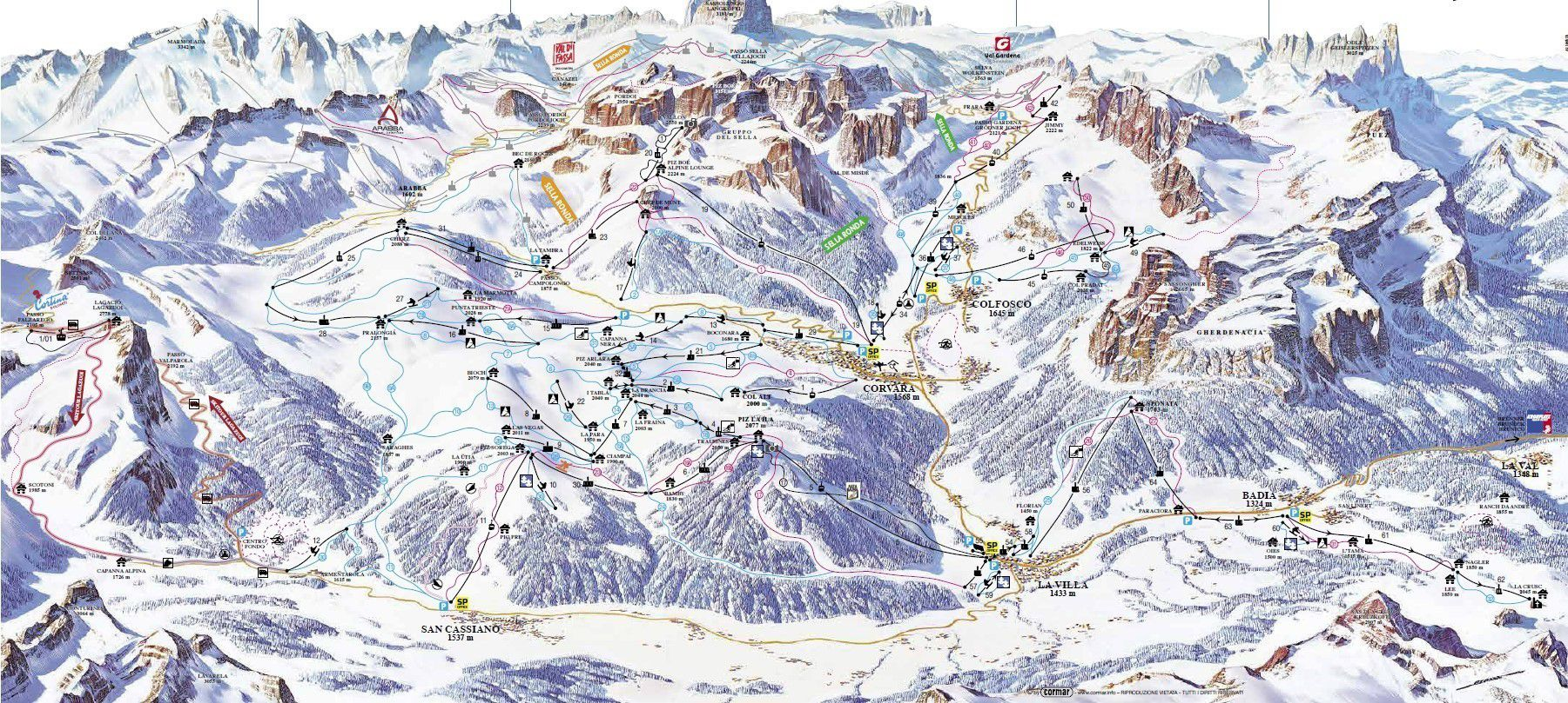 Skiurlaub Corvara Alta Badia Winterurlaub Skireisen