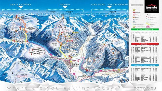 Bormio Italy Map.Ski Area Bormio Rating Bormio Test Report Piste Map