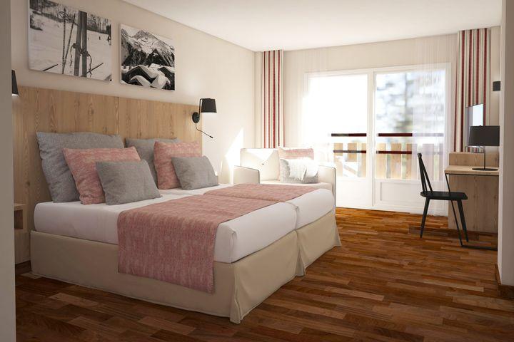 Doppelzimmer Du/WC (Bergblick), ÜF